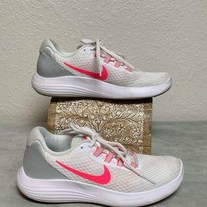 Nike LUNARLON White/Hot Pink  Size 7